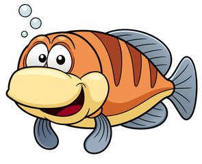 illustration of Cartoon fish