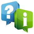 Speech Bubbles Question Blue & Information Green
