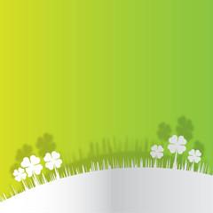 Paisaje naturaleza con hierba y tréboles