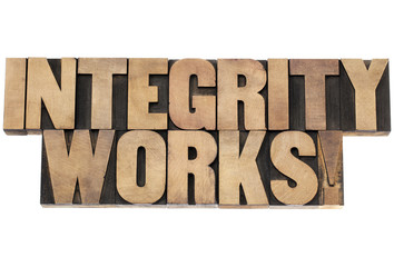 integrity works in wood type