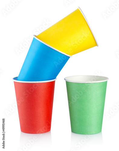 Colorful disposable cups