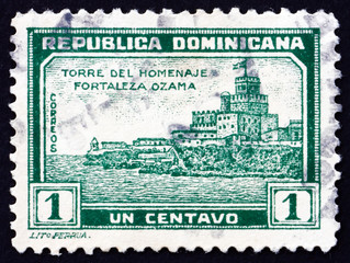 Postage stamp Dominican Republic 1932 Tower of Homage, Ozama