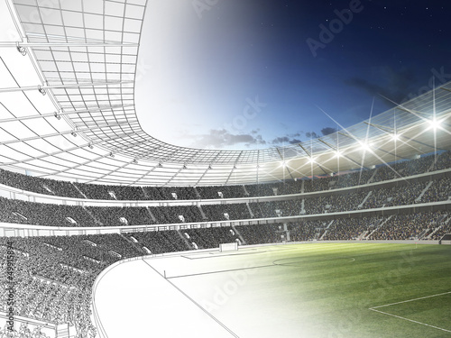 Stadion 3D CAD Rendering