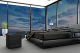 Exclusive Design Bedroom with aerial view