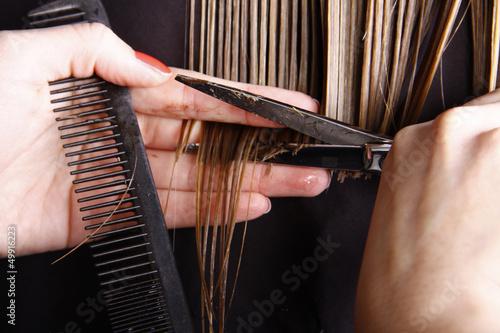 Leinwanddruck Bild Friseur