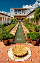 Jardin de l'Alhambra à Grenade, Espagne.
