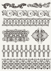 antique design elements and page decoration