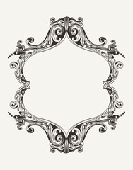 Vector Antique Vintage Royal Frame