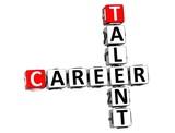 3D Talent Career Crossword on white background poster