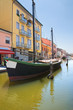 Panoramic view of Comacchio. Emilia-Romagna. Italy.