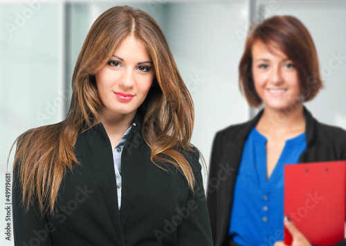 Couple of young businesswomen