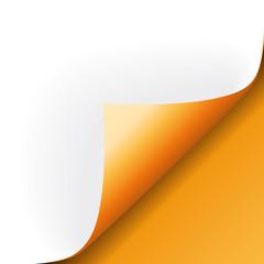 Papier Ecke orange rechts unten