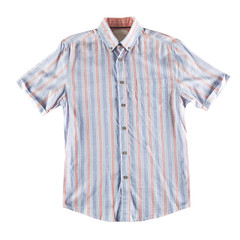 Red and blue shirt isolated
