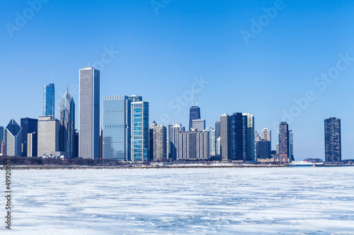 Chicago Cityscape in winter