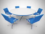 Conference table and chairs in meeting room