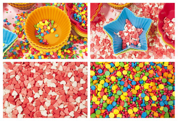 molds and colorfull candy