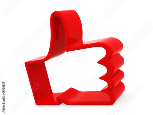 """Like"" symbol on white background"