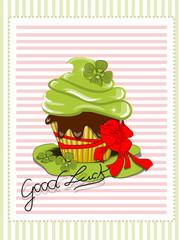 Cupcake, Muffin mit Kleeblatt