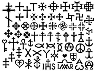 Heraldic Crosses and Christian Monograms (with Additions)