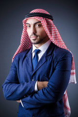 Arab businessman in studio portrait
