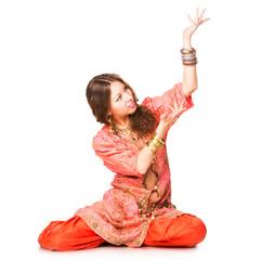 Beautiful eastern belly dancer