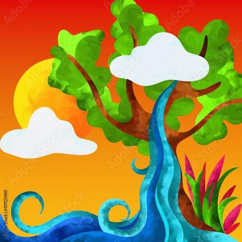 albero e cascata