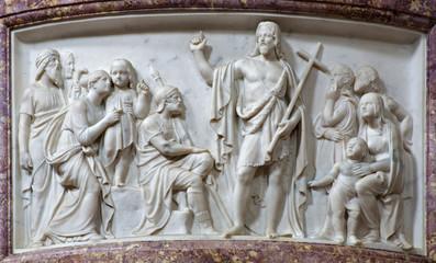 Verona - Relief of St. John - San Alessandro della Croce