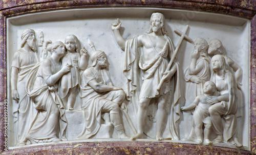 Verona - Relief of St. John - San Alessandro della Croce © Renáta Sedmáková