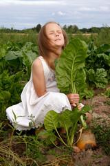 Girl at turnip