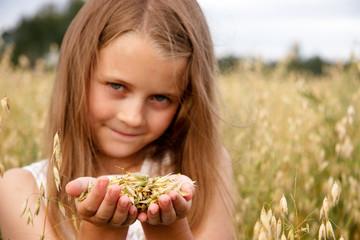 Girl in cornfield