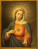 Verona - Heart of Virgin Mary. Paint from church San Lorenzo