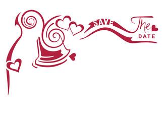 """Kalligrafie Hochzeitsglocke """"save the date"""""""