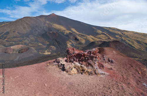 landscape of etna craters