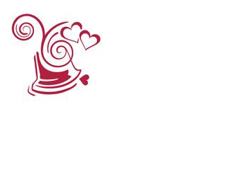 Kalligrafie Hochzeitsglocke/ Freisteller