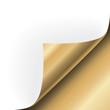 Papier Ecke Gold rechts unten