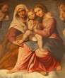 Verona - Paint of Madonna with the child -  San Fermo Maggiore