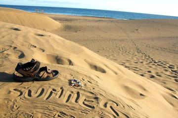 summer time - written on sand