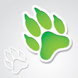 Dog footprint sticker