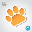 Cat paw banner