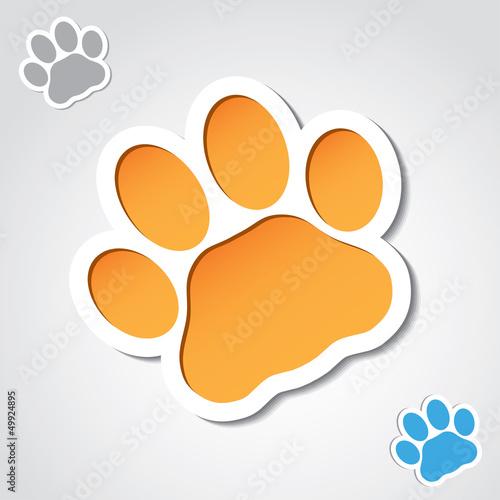 Cat paw banner