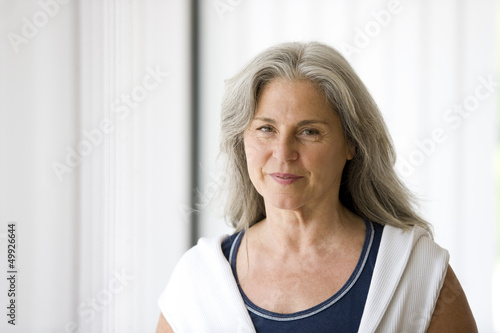 Portrait of mature woman