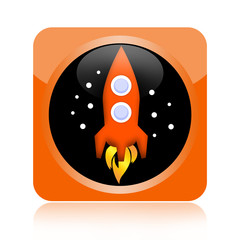 Space ship rocket icon