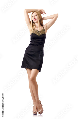 Attractive tall model isolated on white