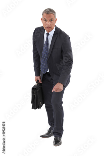 Businessman in a race