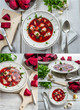 Borscht soup made from fresh vegetables