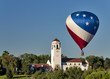 Hot air balloon and boise train depot