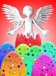 Angel Breaks Out Of Easter Egg