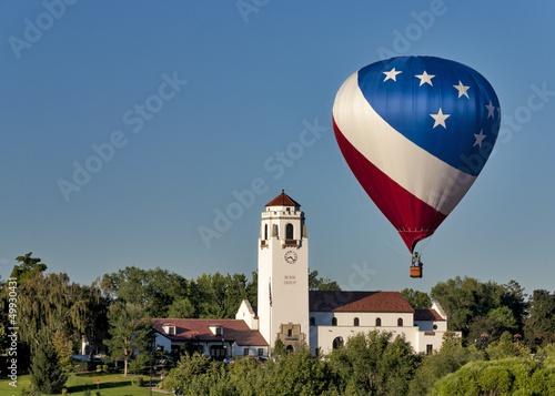 Hot air balloon and boise train depot