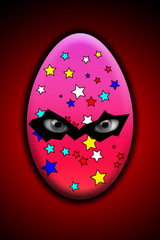 Sinister Easter Egg With Eyes