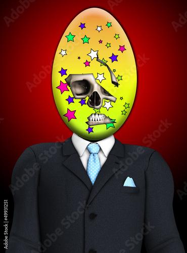 Sinister Easter Egg Skull Man